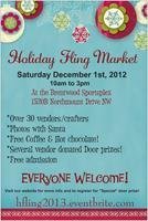 Holiday Fling Market- December 1st, 2012- Grand door...