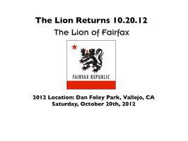 7th Annual Lion of Fairfax @ Dan Foley Park, Vallejo,...
