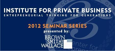 SLU's Institute for Private Business  - Fall Seminar...