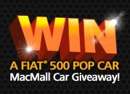 WIN A FIAT®   500 Pop Car   MacMall Car Giveaway!