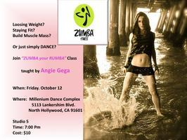 """ZUMBA Your Rumba"" Class Taught By Angie Gega"