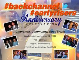 #backchannel #earlyrisers 2nd Anniversary Celebration