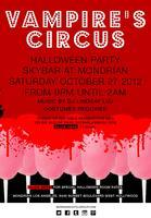 Vampire's Circus Halloween Party