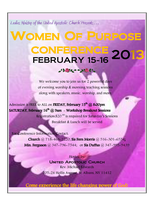 Women of Purpose Conference 2013