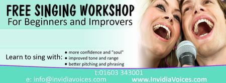 FREE SINGING WORKSHOP FOR BEGINNERS AND IMPROVERS