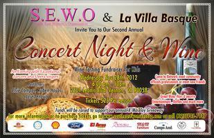 """S.E.W.O Present our Second Annual """"Concert Night  Wine..."""