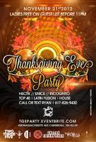 Thanksgiving Eve Party @ Naga
