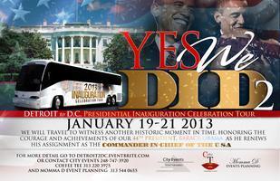 """DETROIT 2 DC"" Presidential Inauguration 2013 Bus Trip"