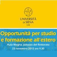 Università di Siena: opportunità di studio e formazione...