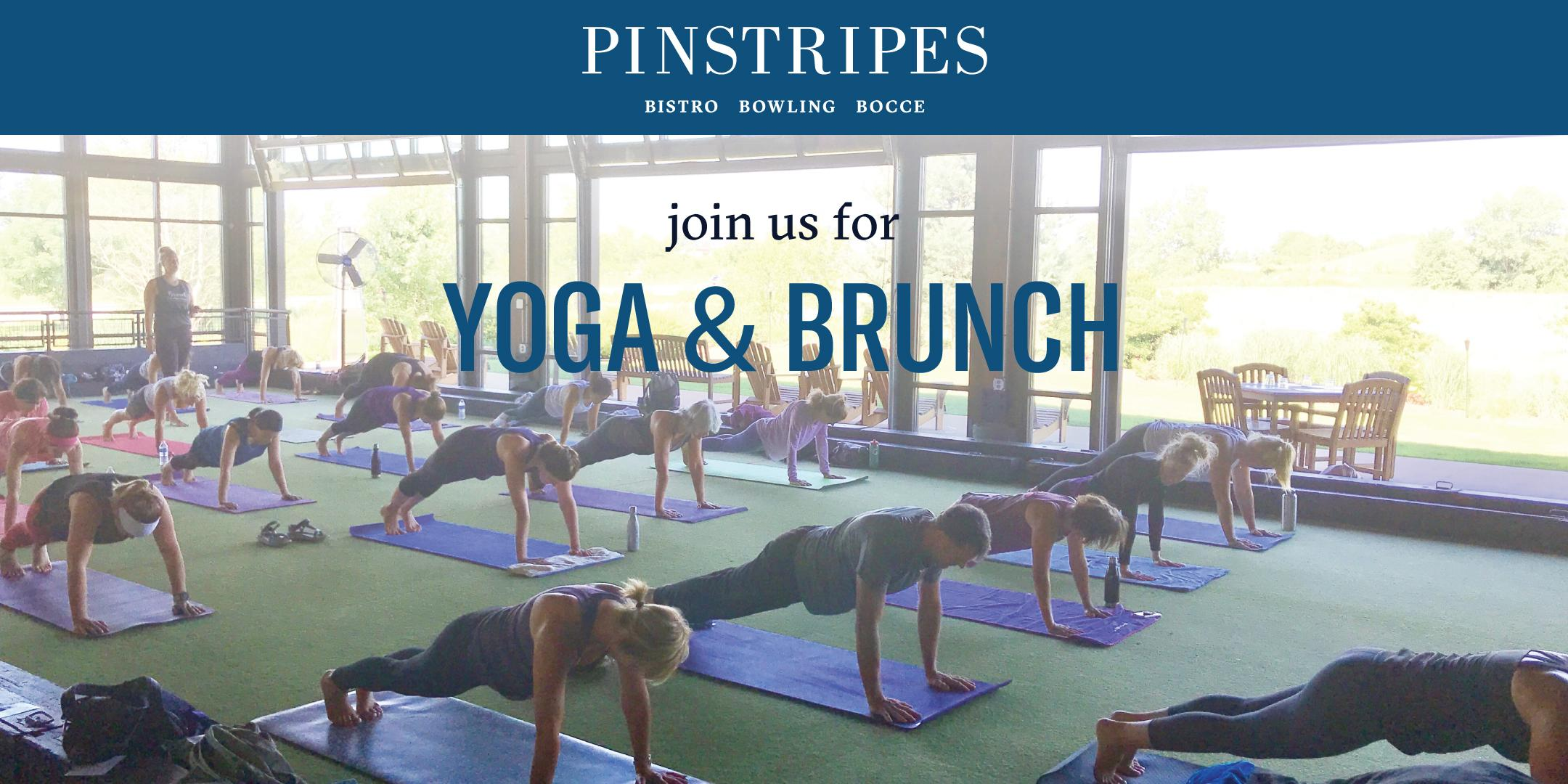 Yoga & Brunch at Pinstripes Chicago