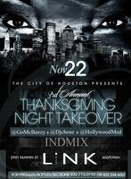 3rd Annual Thanksgiving Nite Takeova @ Link Lounge |...