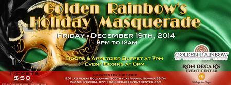 Golden Rainbow Holiday Masquerade