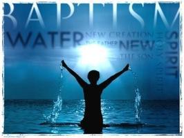 Bert's Water Baptism