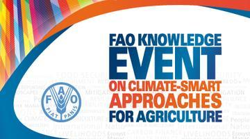 FAO Knowledge Event on Climate-Smart Approaches for...