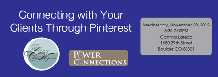 Connecting with your clients through Pinterest