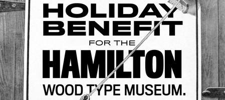 Letterpress Sale & Holiday Benefit for the Hamilton...