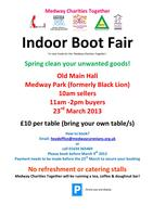 Indoor Bootfair / Table Top Sale