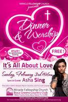 """Its All About Love"" Dinner & Worship Experience"