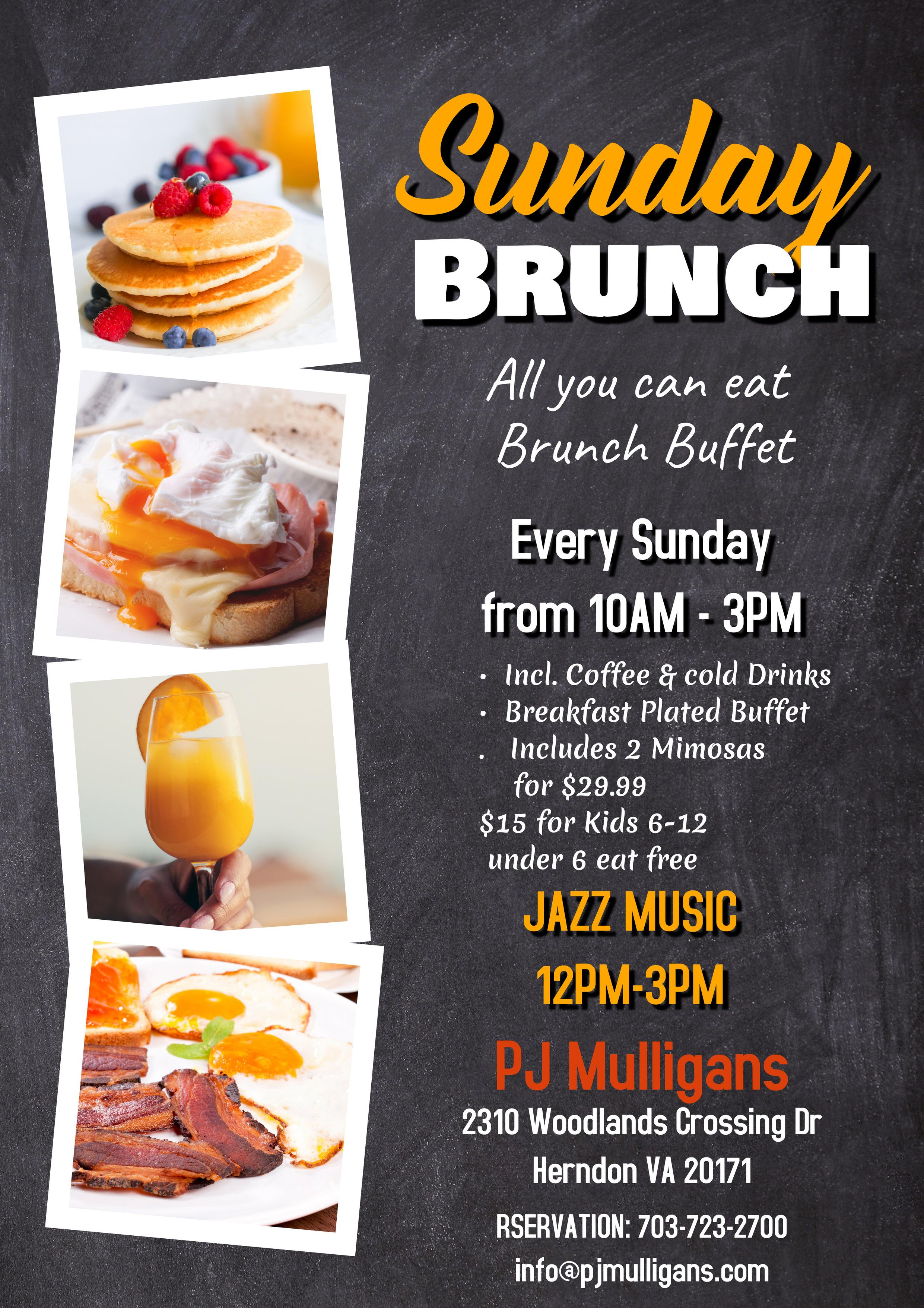 Jazzy Sunday Brunch Buffet ( All you can Eat Plated )