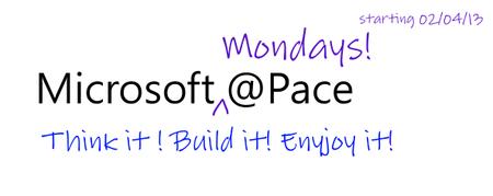 Microsoft  Mondays @ Pace