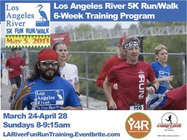 LA River 5k Fun Run Training by A Runner's Circle & Yoga 4...