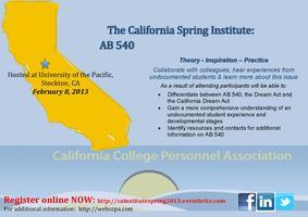 CCPA Spring 2013 California Institute: AB 540 Students