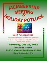 HOLIDAY POTLUCK & MEMBERSHIP MEETING