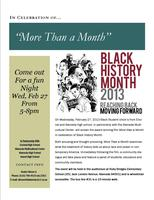 "Film Screening and Discussion: Black History ""More..."