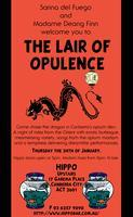 Lair Of Opulence - A night in Canberra's Opium Den