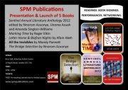 SPM PRESENTATION & LAUNCH OF 5 BOOKS