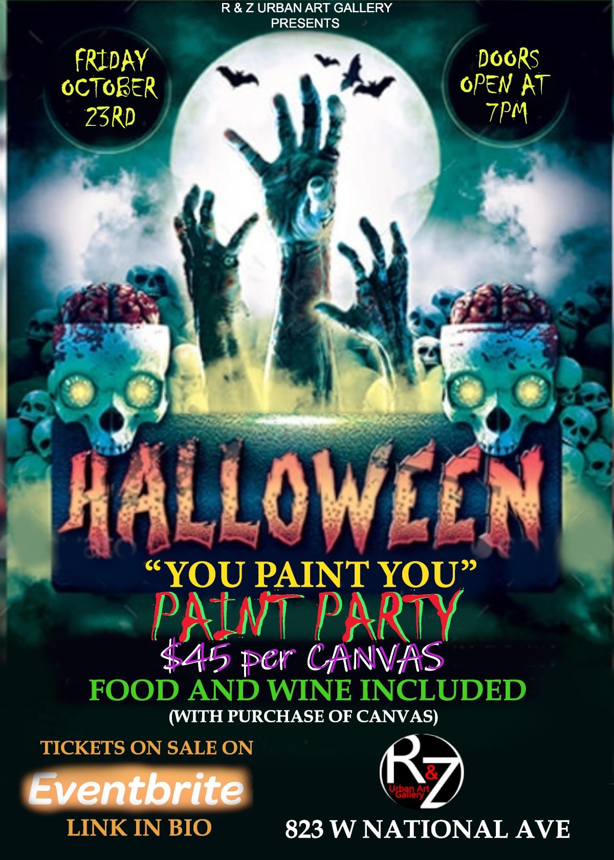 October Halloween 2020 Parties Milwaukee HALLOWEEN YOU PAINT YOU Party   23 OCT 2020