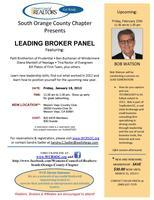 January 18 Resource Luncheon - Leading Broker Panel