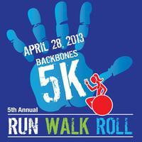 BACKBONES 5K RUN, WALK n ROLL 2013