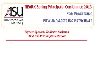 NEARK Spring Principals' Conference 2013