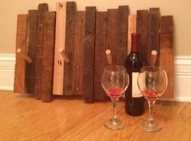 Valentine's Wood & Wine Couples Coat Rack Class - Make...