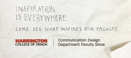 Communication Design Dept. Faculty Show — March 7th