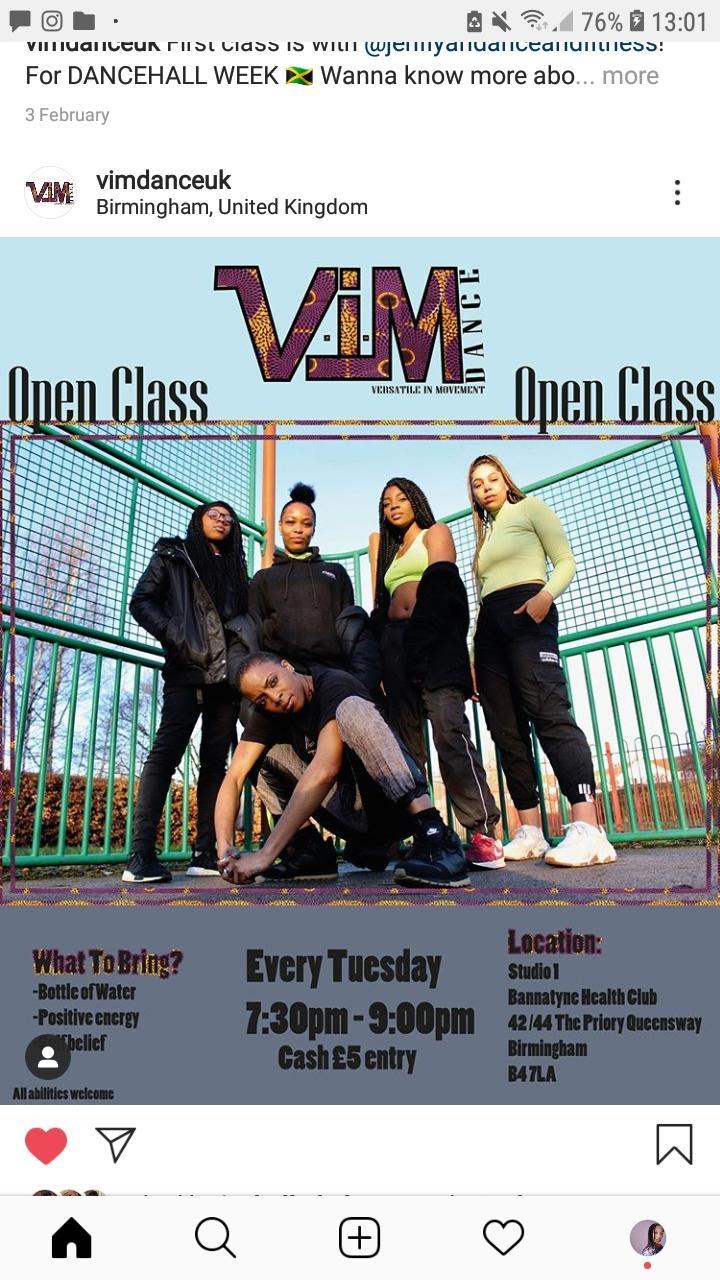 VIM Dance Open Class