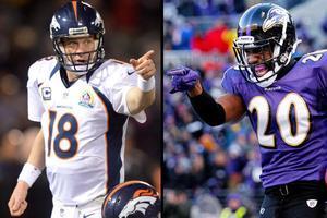 Baltimore Ravens vs. Denver Broncos NFL Playoffs Game...