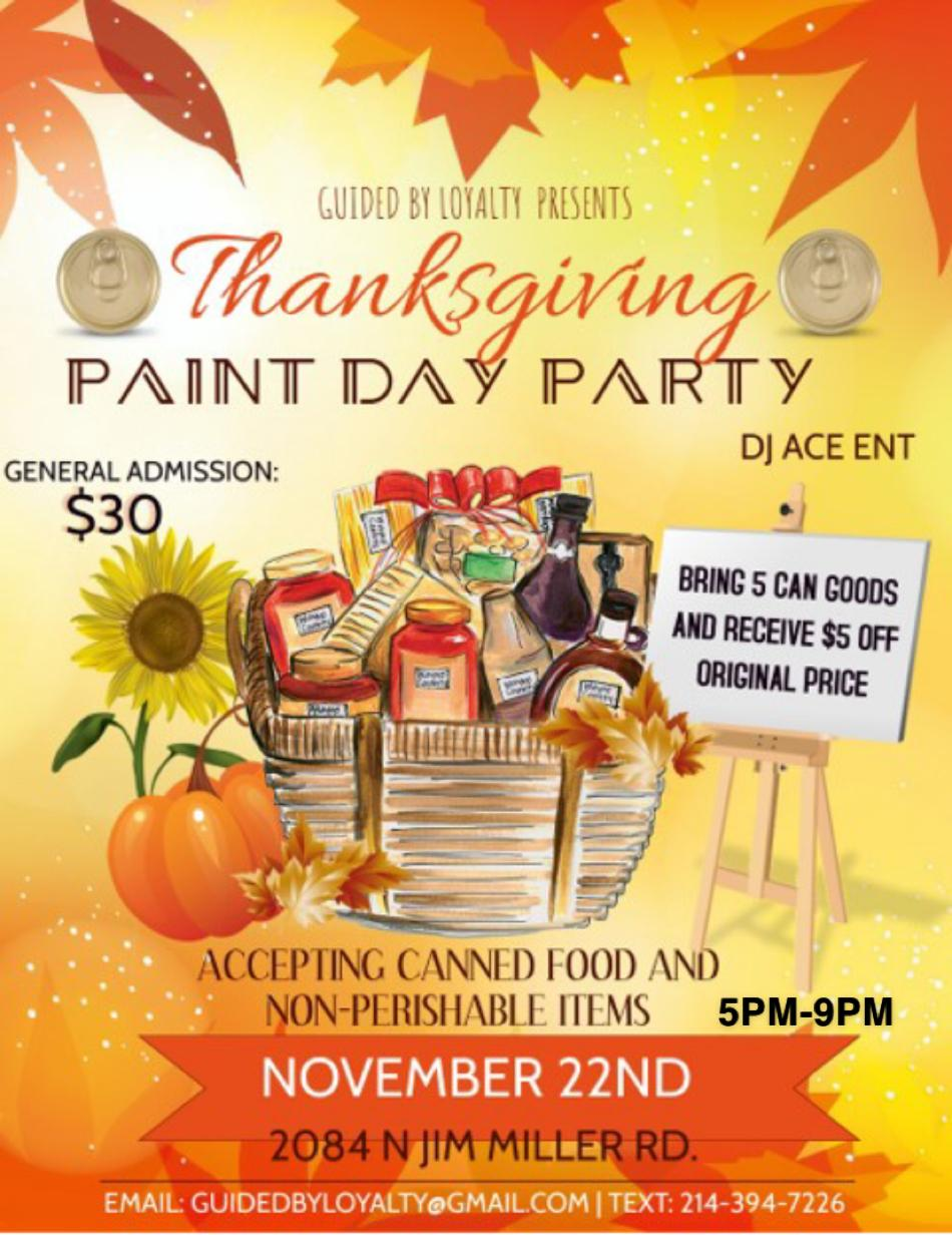 Thanksgiving Paint Day Party