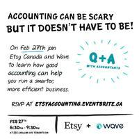 Etsy Canada and Wave present Accounting for Artists