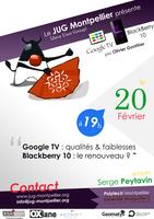 Soirée Google TV et Blackberry 10