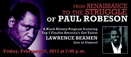 From Renaissance To The Struggle of Paul Robeson Concer...
