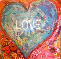 Beth Watkins' Collage Workshop  —  Conversation Hearts...
