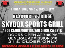 "American Wrestling Alliance presents ""HEARTBREAK RIDGE"""