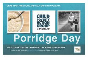 Street Porridge Stall for Child Poverty Action Group Sc...