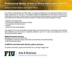 Master In Global Governance Information Session