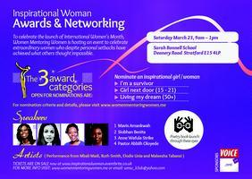 Inspirational Woman: Awards and Networking Event