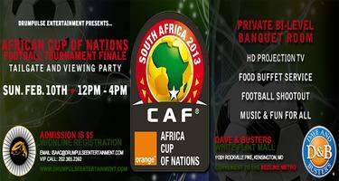 African Cup Of Nations Finale @ Dave & Busters