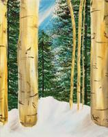 Winter Birches - Johnny Carino's Riverside 2-4-13