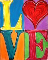 LOVE (one canvas or two) - Color Me Mine - 2-14-13